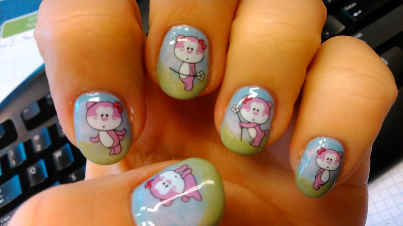 Spring meadow nail art by Nail Crazinesss