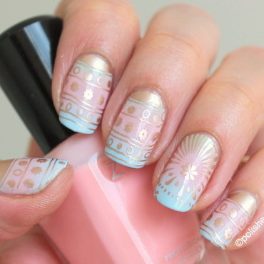 Fancy Easter eggs inspiration nail art by Polished Polyglot