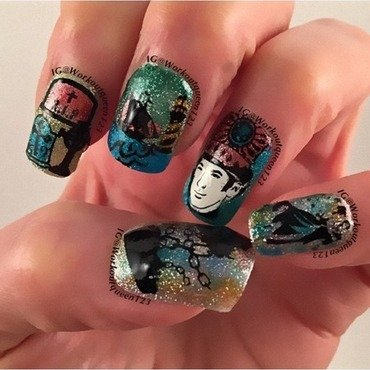 The Count of Monte Cristo  nail art by Workoutqueen123