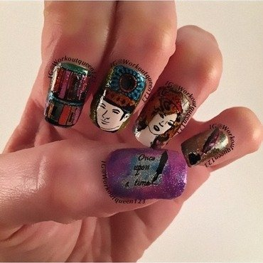 Pride & Prejudice  nail art by Workoutqueen123