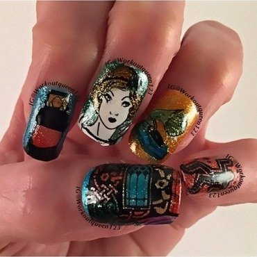 The Great Gatsby nail art by Workoutqueen123