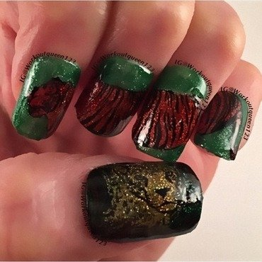The Jungle Book nail art by Workoutqueen123