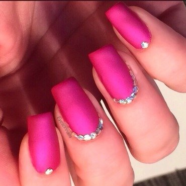 Matte and glitter placement  nail art by Virginia