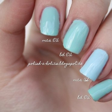 Essie Mint Candy Apple and Essie Blossom Dandy Swatch by katharinapeskelidou