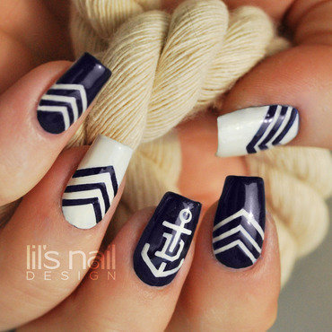 Fremantle Dockers Nails nail art by Lily-Jane Verezen