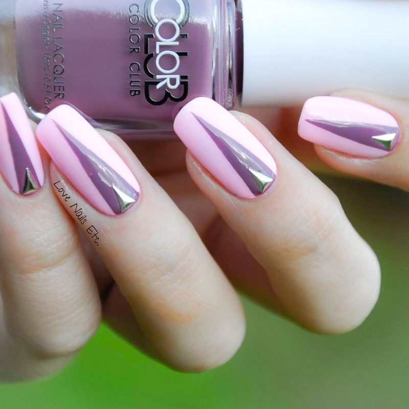 Triangle nail art by Love Nails Etc