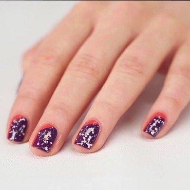 Rebel Bouquet nail art by Ann-Kristin