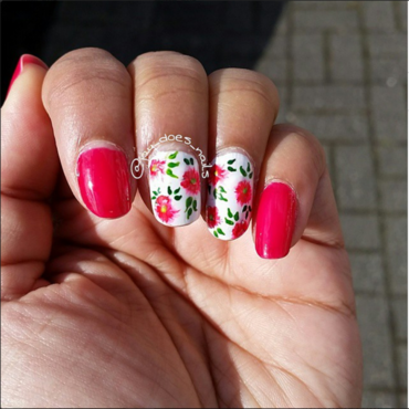 Spring has sprung 2015 nail art by Jaya Kerai