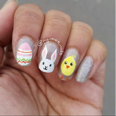 Easter 2015 nail art by Jaya Kerai