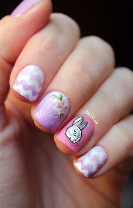 Easter Nails nail art by Fran Nails