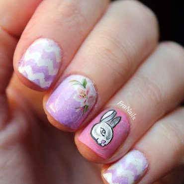 Easter Nails nail art by Fran Nails