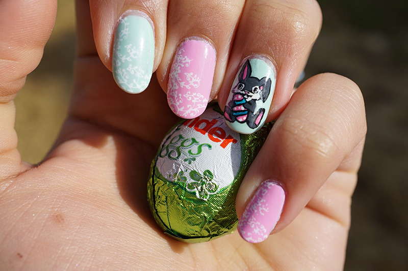 easter nails nail art by Cathy Neves