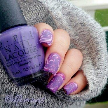 Another swirled marbling =D #matte nail art by Arlett