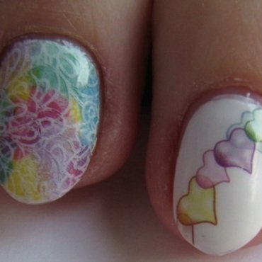 Pastelove  nail art by Nail Crazinesss