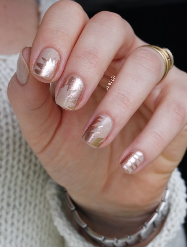 Gold nude nail art by pmabelle nailpolis museum of nail art gold nude nail art by pmabelle prinsesfo Image collections