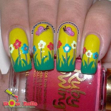Spring Doodles nail art by Paula of Wow Nails