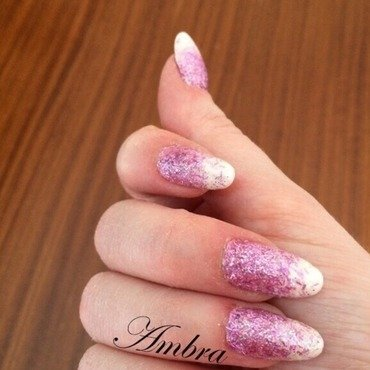 Glitter gradient rosa  nail art by AmberNails