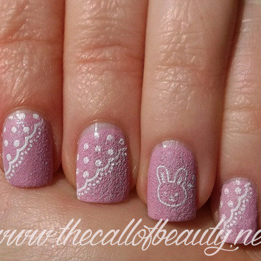 Easter Bunny nail art by The Call of Beauty