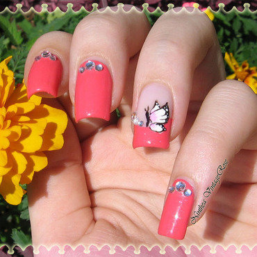 Because I am happy nail art by Ninthea