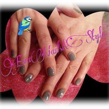 Grey nail art by Ewa EvaNails