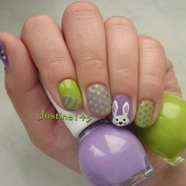 Easter nail art by Justine145