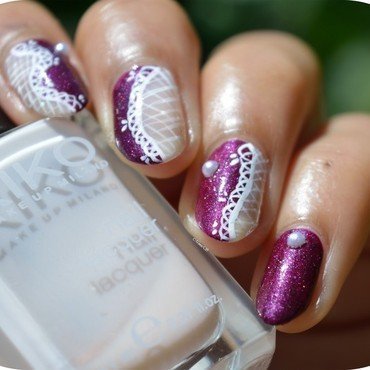 Chic & Sexy Lace nail art by MimieS Nail