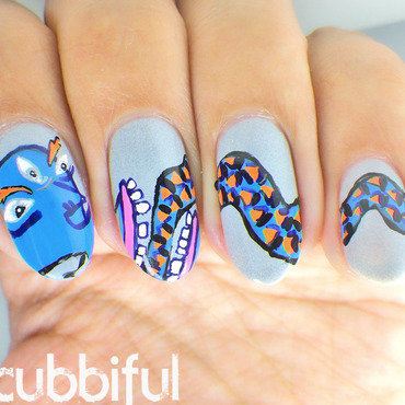 Kathmandu Nails nail art by Cubbiful