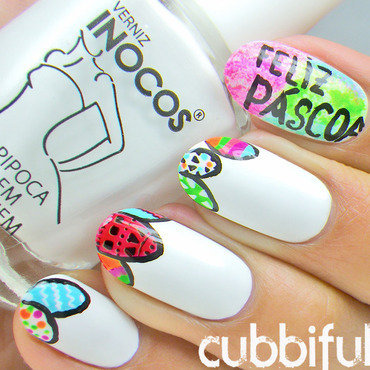 Easter egg nail art thumb370f