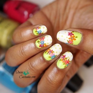 Textured Flowers nail art by Stacey  Castanha