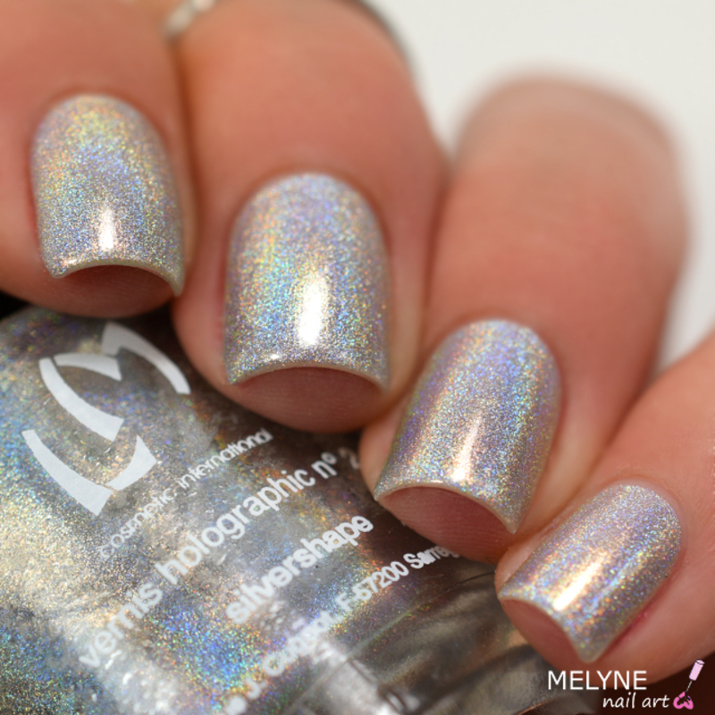 LM Cosmetic Silvershape Swatch by melyne nailart