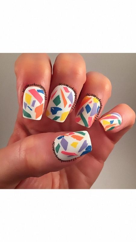Abstract nail art by Workoutqueen123