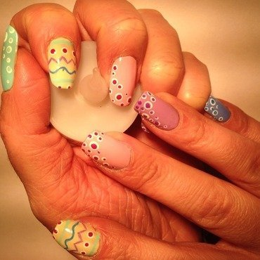 Easter deco nail art by Eleadora