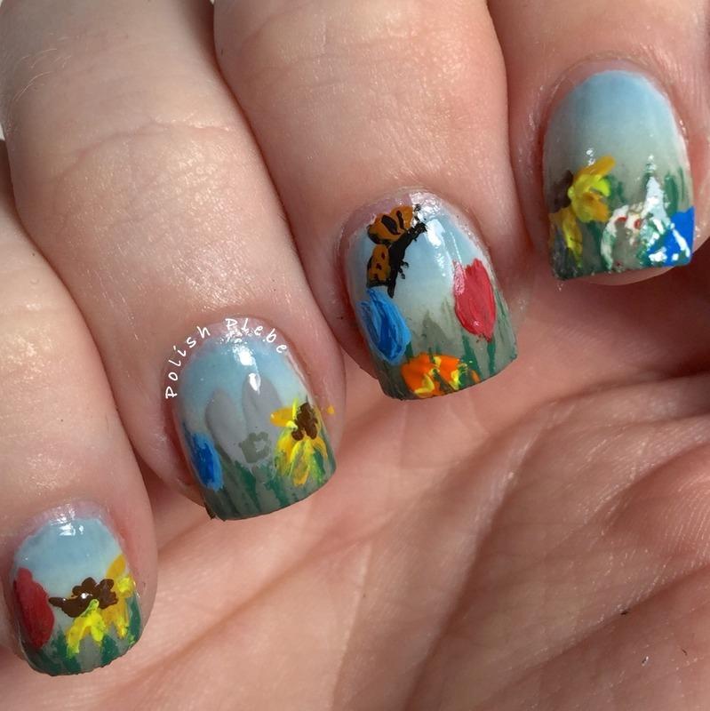 Garden Easter Egg Hunt nail art by Crystal Bond