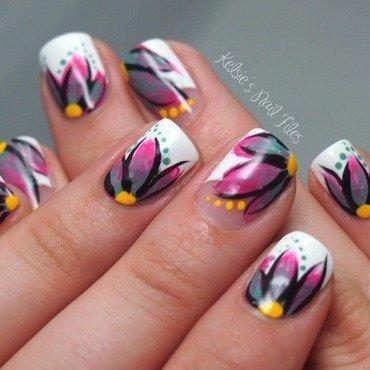 Spring Floral nail art by Kelsie