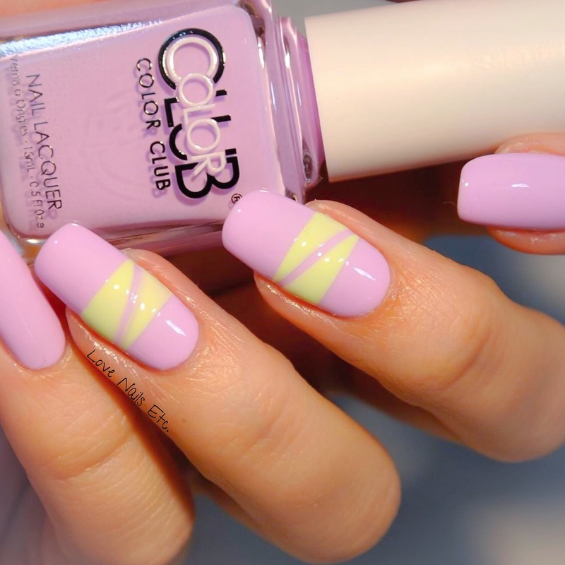 Pastel Stripes nail art by Love Nails Etc