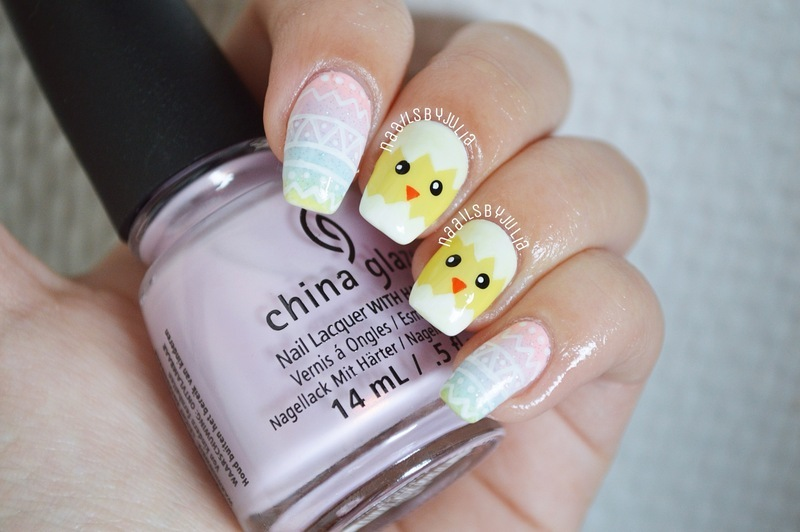 Easter nails nail art by Julia