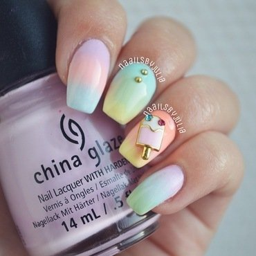 Ice cream nails nail art by Julia