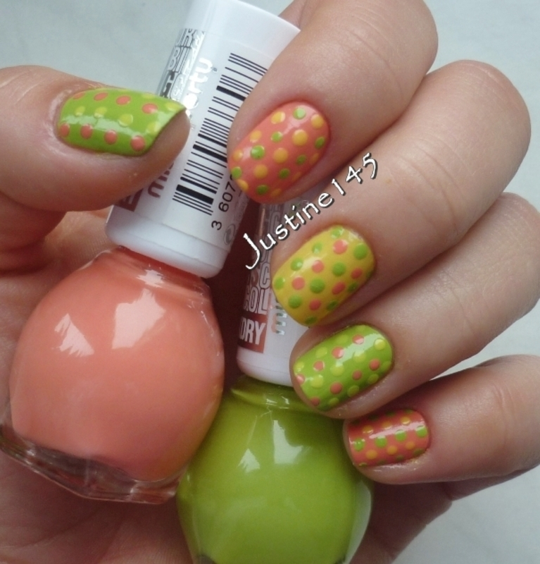 Easter dots nail art by Justine145
