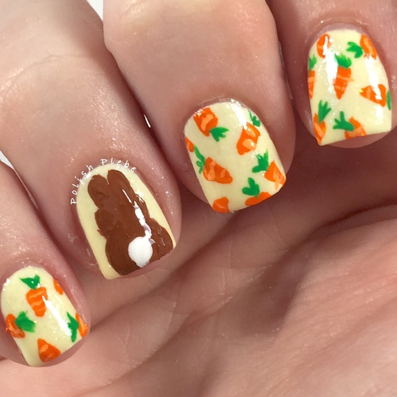 Carroticure  nail art by Crystal Bond