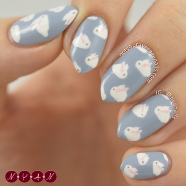 Hoppy Easter nail art by Becca (nyanails)