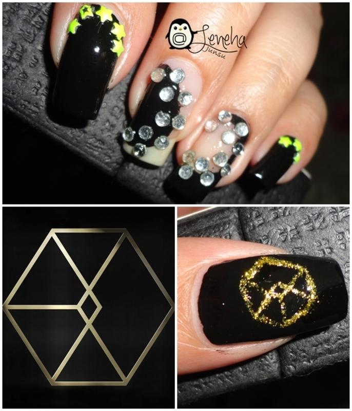 RockStar Nails nail art by Leneha Junsu