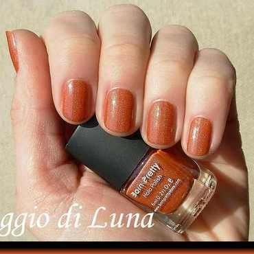 Orange/brown Born Pretty Store holographic nail polish #5 Swatch by Tanja