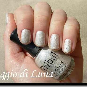 BPS Tribal Textured Liquid Sand nail polish n° 01 White Swatch by Tanja