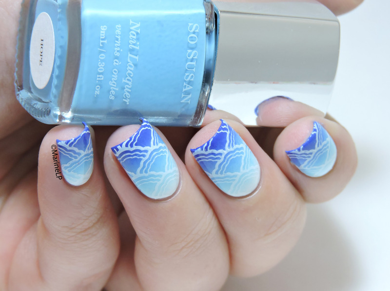 Into the clouds nail art by Marine Loves Polish