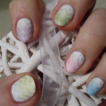 Easter eggs nail art by Nail Crazinesss