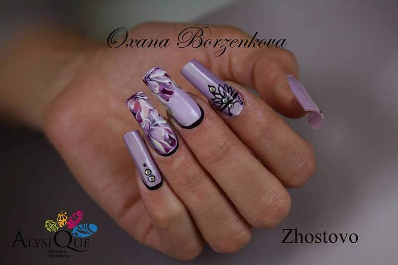 Zhostovo Nail Art By Oxana Borzenkova Nailpolis Museum Of Nail Art