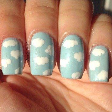 Cloud Nails nail art by Beauty Intact