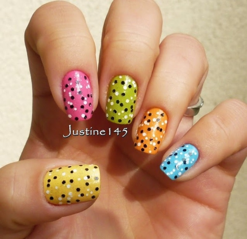 skittles nail art by Justine145