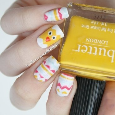 Easter Chicklet nail art by katharinapeskelidou