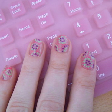 Dots nail art by Brankica